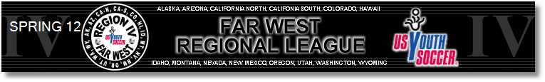 2012 Far West Regional League Spring banner